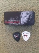 GENUINE KEITH RICHARDS GUITAR PIC CASE WITH 2 PICKS