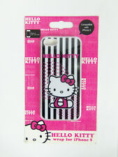 Hello Kitty Wrap Case Protector for iPhone 5 NEW Black White Stripes