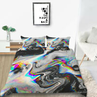Milsleep Marble Bedding Sets 3D Colorful Marble Printing Quilt Cover Sets King