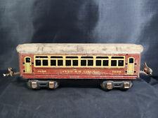 IVES R.R. LINES 1690 ALL - METAL COACH CAR o27 Gauge- Vintage USA