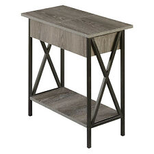 Convenience Concepts Tuscon Flip Top End Table with Charging Station and Storage