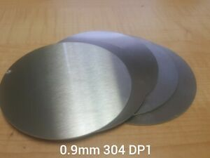 Stainless Steel 304 Brushed DP1 satin. Laser cut disc/blank. 0.9mm thick circle