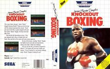 Douglas Knockout Boxing Sega Master System Replacement Box Art Case Insert Cover