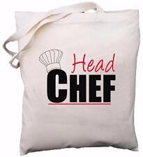 Head Chef - Natural Cotton Shoulder Bag - Baker / Cook Gift