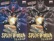 SUPERIOR SPIDERMAN TEAM-UP 4 NYCC VARIANT SET REG & NEGATIVE EXPOSURE EXCLUSIVE