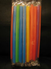 New Bag of 50 Bubble Boba Tea Fat Straws - individually colorful wrapped straws