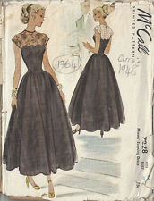 1948 Vintage Sewing Pattern B32 EVENING DRESS (1764)