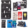Patterned Funny Cat Magnetic PU Leather Wallet Flip Stand Case Cover For i Phone