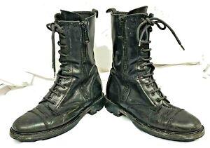 Belstaff Hightop Lace/Zipper Commando Black Boots Sz 7.5/38