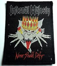 infernal majesty none shall defy        WOVEN  PATCH