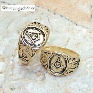Freimaurer Edelstahl Ring Symbol Masonic Templer Tempelritter Zirkel Siegelring