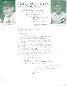 1941 Detroit Tigers Letter Dizzy Trout Birdie Tebbetts Bing Miller Grayling MI