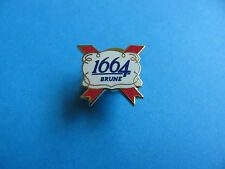 Small 1664 Brune Kronenbourg pin badge, Lager, Pilsner. VGC. Unused. Enamel.