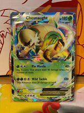 Chesnaught EX XY18 Promo Pokemon Card - Damaged - See Pics