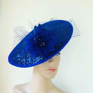 NEW Royal Blue Hatinator Fascinator Ladies race Day Wedding Fashion Accessories