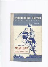 Peterborough United v Mansfield Town Reserves 20 October 1956 Midland League