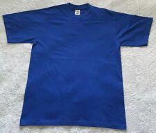 Bundle x 2 Mens Blue Colour Russell Jerzees 100% Cotton T-Shirt Size L