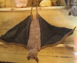 """DK  Knitting Pattern Soft Toy Animal Fruit Bat Wing Span 13"""""""