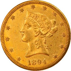 [#218081] Coin, United States, Coronet Head, $10, Eagle, 1894, U.S. Mint, New