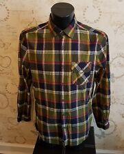 "Red Herring Men's green blue Checked Shirt debenhams Size medium 38"""