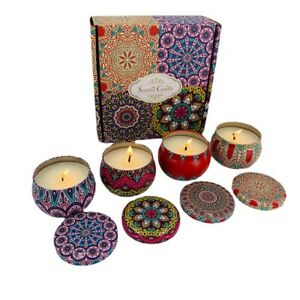 Scented Candles,Soy Wax 4-Pcs, Gift Package Aromatherapy Candle Sets Women Gift