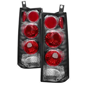 Chevy 03-15 Express Van / Savana Black Rear Brake Tail Lights 1500 2500 3500