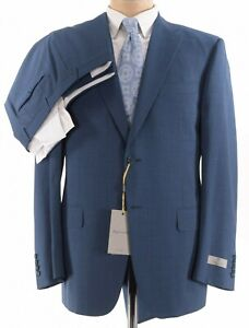 Canali NWT Suit Size 46R In Blue With Fine Blue Stripes Impeccable Wool $2,295