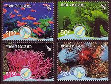 NEW ZEALAND 2008 UNDERWATER REEFS SET OF 4 UNMOUNTED MINT, MNH