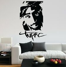Tupac Shakur 2Pac Rapper Big Notorious Rap UK Fun  Decal Wall Art Sticker Home