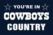 Nfl Dallas American You 're in Cowboys Country Flag Banner With Grommets 3x5 ft