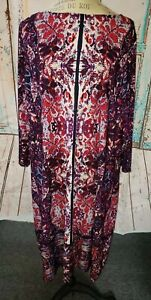 LONDON TIMES WOMAN DRESS, SIZE 2X New with tags Purple and Red 3/4 sleeves