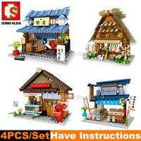 Sembo Japan City Street View Building Blocks Bricks Fit  Minifigures MOC Toy