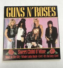 GUNS N ROSES-SWEET CHILD OF MINE-EU 4 SONG EP-VINYL 9.0, SLEEVE 9.0