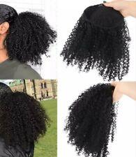 Brazilian human hair Afro kinky ponytail