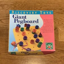 Discovery Toys Giant Pegboard Vintage 1993 Educational Preschool Pattern Stack
