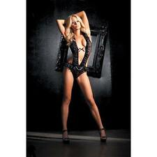 Fantasy Lingerie Stretch Mesh Teddy with Crotch Snaps