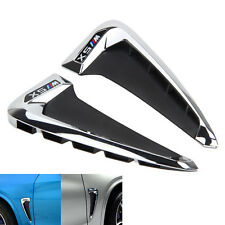 2Pcs Side Body Fender Air wing Vent Trim M Cover Chrome For BMW X5 F15 2014+ NEW