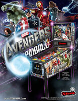 Avengers Pinball FLYER Captain America Thor Black Widow Hulk Marvel Comics 2012