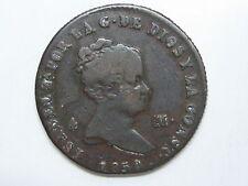 1850 ISABEL II 4 MARAVEDIS JUBIA SPANISH SPAIN COPPER COIN