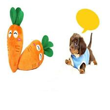 "New Dog Cat Sound Toy Plush Bell Pet Puppy Chew Squeaky Vegetable carrot Toy F""!"