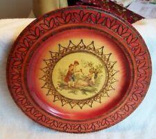"Josef Paczek Wyrobi 11.75"" Hand Carved & Decorated Wooden Plaque / Dish"