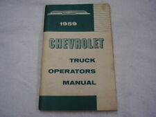 1959 CHEVROLET  TRUCK   OWNERS  MANUAL  ORIGINAL