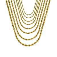 Solid 14K Gold Rope Chain Necklace, Rope Necklace, Statement Necklace