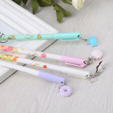 0.38mm Kawaii Biscuit Pendant Gel Ink Writing Pen For School Supplies Stationery