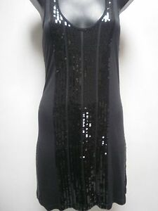 Ladies Black Sequins Dress 8/10