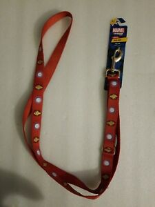 NWT Petco Pet fans collection dog lead Marvel Comics Iron Man Dog Leash, 6 ft.