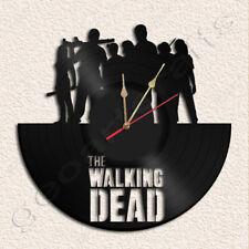 The Walking Dead Vinyl Record Clock Upcycled Gift Idea