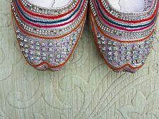 PINK Ladies Indiano Matrimonio khussa di Scarpe 5