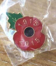 Poppy Pin Badge 1915-2015