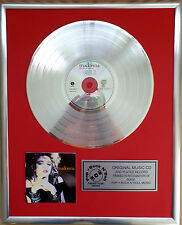 "Madonna - The first Album CD/Cover gerahmt +12""Deko goldene Vinyl Schallplatte"
